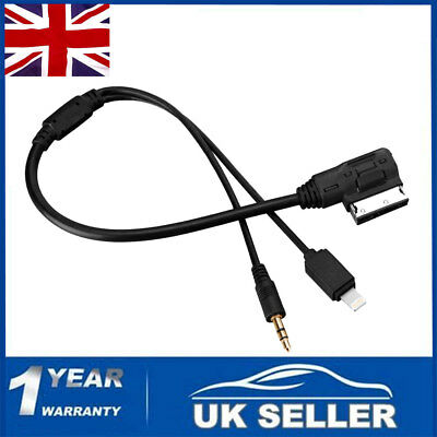 MDI VW AMI Audi for Media AUX IN 3.5 Mini Jack Interface iPhone Cable Adaptor-UK