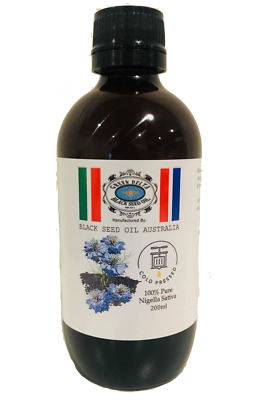 100% Pure Black Seed/Kalonji/Nigella Sativa/200ml/Oil Cold Pressed in Australia