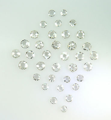 Natural Diamond ,VS SI Near White I-J color Round Rose 2 to 3 MM 5 pcs lot