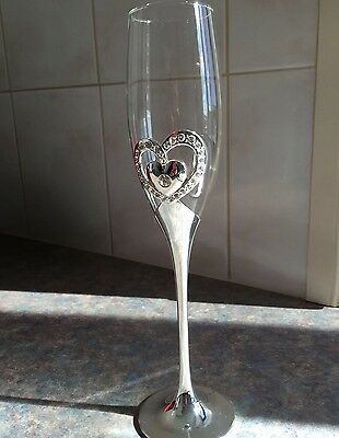 - New - ' Diamond Heart ' Wedding Flutes