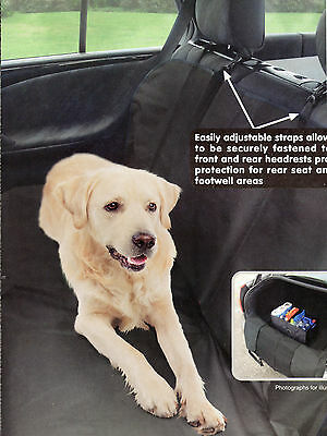 Rear Seat Cover for Dogs 146x143cm Protective & Water Resistant