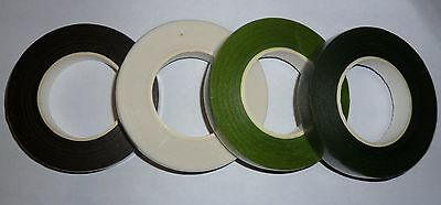 Florist Stem Tape - GREEN, BROWN or WHITE Buttonhole, Corsage, Wire Floral work