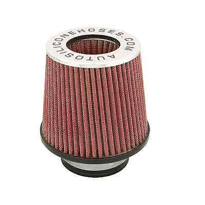 Red Ash Universal Car Cone Air Filter Induction Kit High Intake Performance