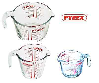 Pyrex Glass Measuring Jug 250ml 500ml 1 litre Gravy Pick Your Size