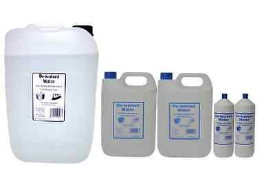 Distilled Water - Pre-Filtered Steam Distilled Purified Deionised