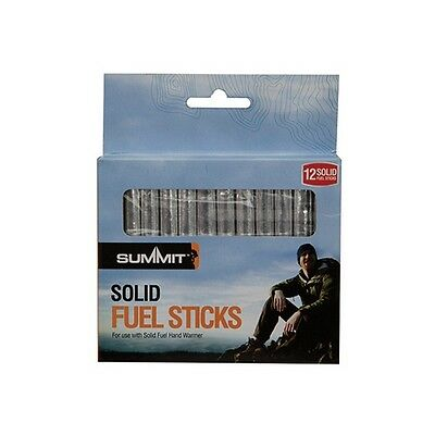 12 x PACK OF HAND WARMER SOLID FUEL STICKS, Rods. Refills for pocket handwarmers