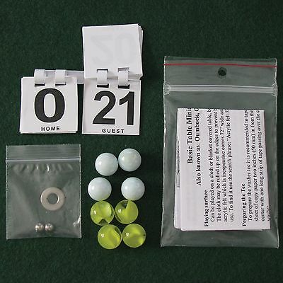 Marbles mini Table Bocce set. Also known as Oumbock, Oombock