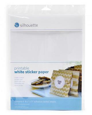 Silhouette PRINTABLE STICKER PAPER - Available in White & Clear