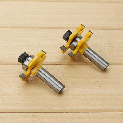 "1pcs Matched Tongue and Groove Router Bit Set 1/2"" Shank"
