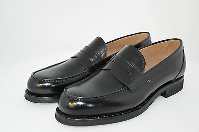 Man Penny Loafer - Black Calf - Mocassino - Vitello Nero - Gumlite Rubber Sole