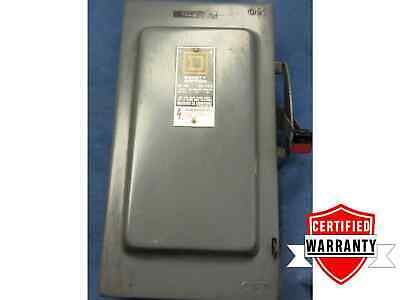 100 Amp Disconnect >> Square D H 323 N 240 Vac 100 Amp Fusable Safety Switch Box Used