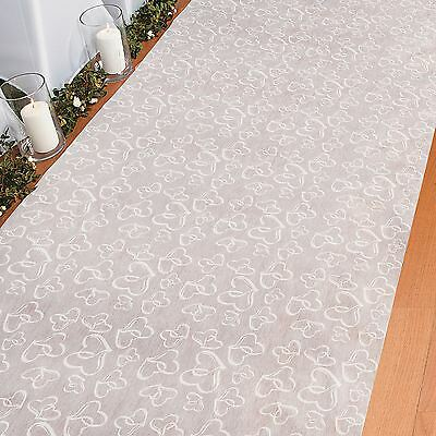 Two Hearts Wedding Ceremony Aisle Carpet Runner 100ft x 3ft