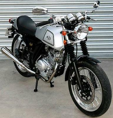 New AJS Cadwell 125cc Cafe Racer Learner Friendly Motorcycle