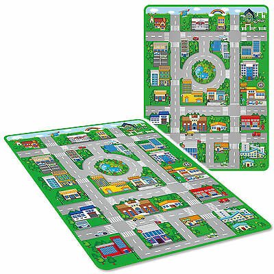 Jumbo Kids Game Play Mat Eva Soft Foam Carpet Wipe Clean Car City Toy Town Mat