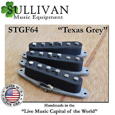 SME Custom Hand Wound 60s Stratocaster Pickup Set Gray Bottom Strat STGF64