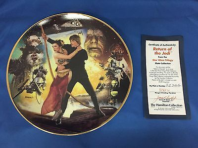 Star Wars Trilogy Return of the Jedi The Hamilton Collection Commemorative Plate
