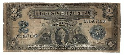 Fr.251 1899 $2 Silver Certificate Large U.S. Note Blue Seal [2348.05]