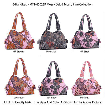 6 Premium Designer Handbags - 'Ed Hardy' Collection JH3922 - Calavera Purses