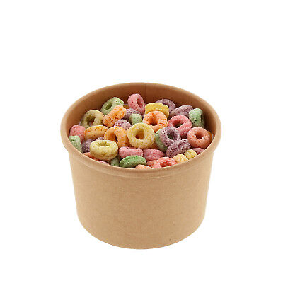 Royal 8 oz. Kraft Paper Soup/Hot Or Cold Food Containers, Package of 25