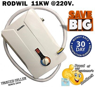 Tankless Electric Water Heater Endless Hot Water On-Demand 220V 12.6KW RODWIL