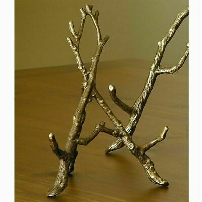 """Bronzed Finished Brass Easel Branches For Picture Frames or Small Mirrors 9""""H"""