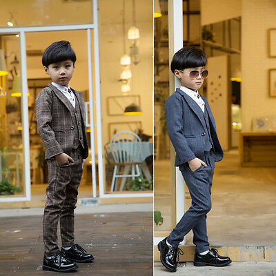 4 PCS suits Formal Baby Kids Child Gentry Dress Boys Wedding Party Set Suits