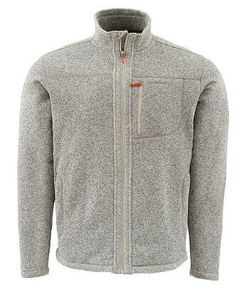 SIMMS RIVERSHED FULL ZIP SWEATER - Cork- All Sizes - NEW - Free Shipping