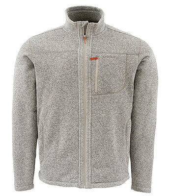 SIMMS RIVERSHED FULL ZIP SWEATER - Cork- L & XL - NEW - Free Shipping