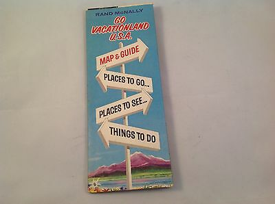 VTG Vintage 1965 Rand McNally R J Reynolds Go Vacationland USA Map Pamphlet