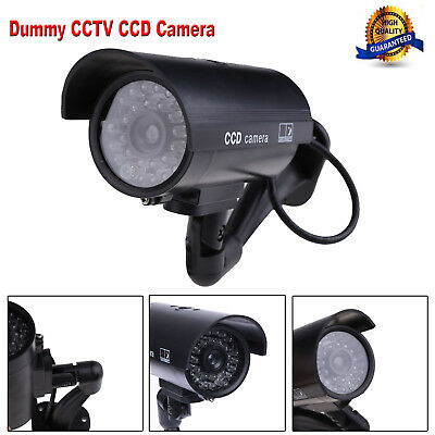 Outdoor Indoor Surveillance Security Fake Dummy Camera Night CAM with LED Light