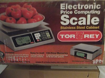 Torrey Electronic Price Computing Scale Stainless steel cabinet - New! #L-PC-40L