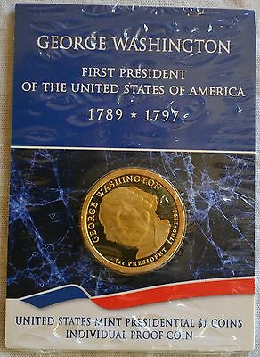 Proof 2007 George Washington Presidential Dollar Coin $1 Sealed