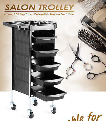 NEW Beauty Spa Hairdresser Colouring Hair Salon Trolley Rolling Storage Carts