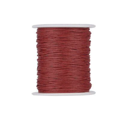 Waxed Cotton Thread Cords Red 1mm 84m/roll Jewellery Making String Thread Spool