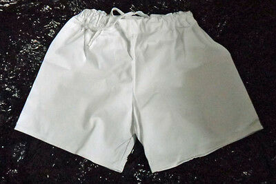 White Rugby Shorts 100% cotton SUPER SAVER FREE POSTAGE !!!!!!!!