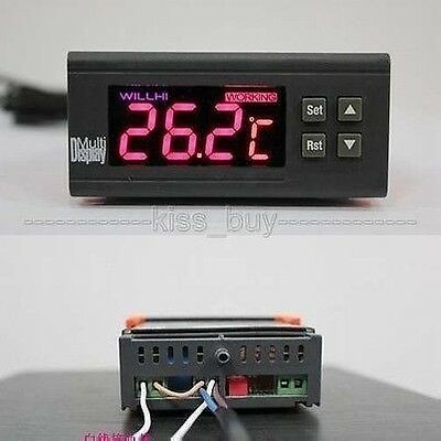 DC 12V C/F Digital LCD Thermostat Regulator Temperature Controller + sensor  CAR