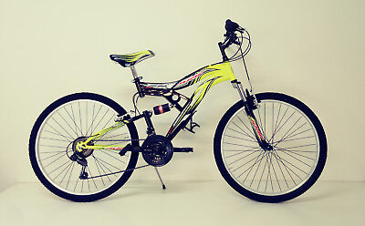 "BICI Bicicletta MTB MOUNTAIN BIKE 26""/24"" JUMP FULL SUSPENDED 18V  2017"