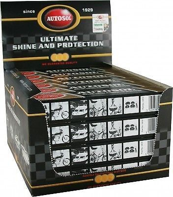 24 X Autosol Solvol Chrome Polish Aluminium & Metal Paste Car Motorcycle Boat