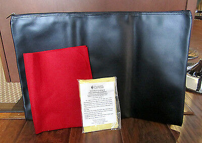Lot of (3) Cutco Accessories – Zippered Pouch, Polishing Cloth & Fabric Mat -New
