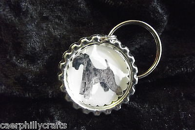 Kerry Blue Terrier Keyring by Curiosity Crafts