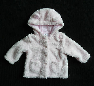Baby clothes GIRL 3-6m soft fleecy pink coat/jacket hood COMBINE POST SEE SHOP!