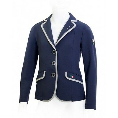 Equiline Milly girls competition jacket Navy 12/13