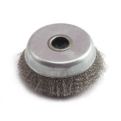 3 Inch Stainless Steel Crimped Wire Cup Wheel Rust Removal Cleaning Brush