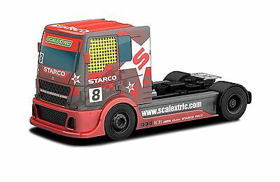 """Scalextric """"Team Scalextric"""" Racing Truck Red #8 1:32nd Scale Slot Car"""