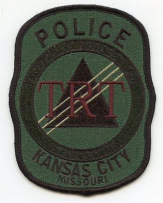 KANSAS CITY MISSOURI MO Tactical Response Team TRT subdued SWAT POLICE PATCH