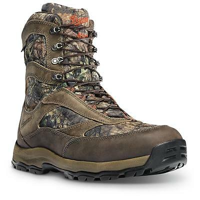 """NEW Danner High Ground 400G Hunting Boots, 8"""" Mossy Oak Gore-Tex Waterproof"""