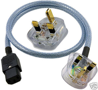Audio Friendly SHIELDED IEC Mains Power Cable 1 metre