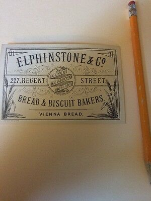Historic Vintage Receipt Invoice Bill  History Elphinstone Bread Biscuit Maker