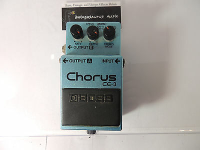 Vintage Boss Ce-3 Chorus Effects Pedal  Green Label Made In Japan Mij
