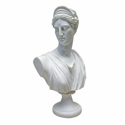 Design Toscano Diana Of Versailles Bonded Marble Resin Sculptural Bust, White